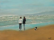 Mother and daughter in Ocean Beach